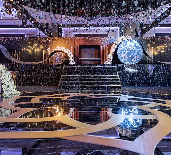Branded Marble Dance Floor