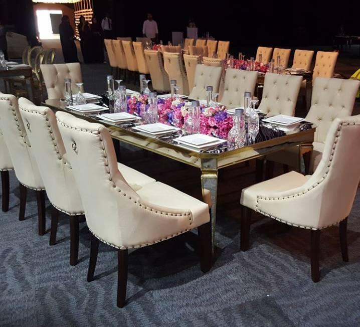 Rectangular Mirror Table
