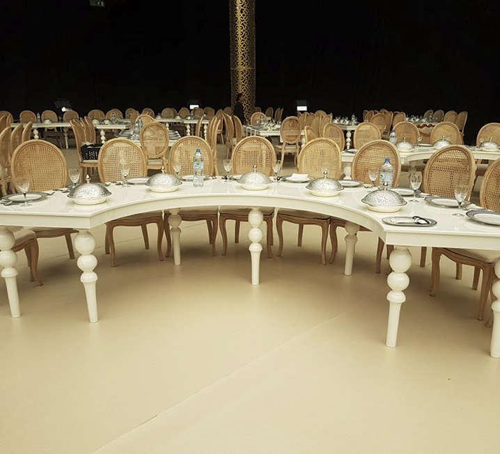 HalfMoon White Table
