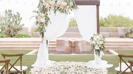 Minimal All White Arch